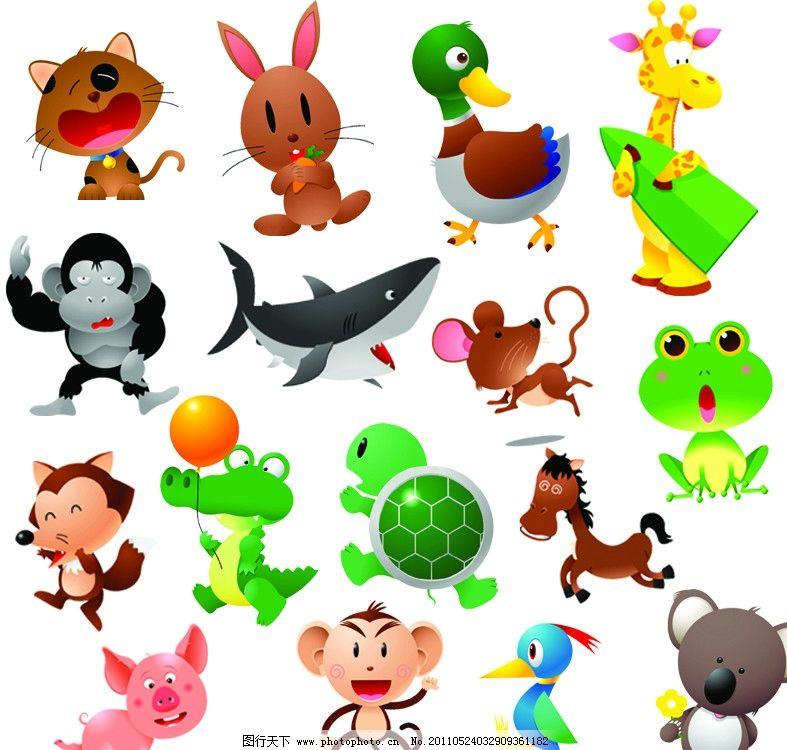 动物卡通背影图片第1张