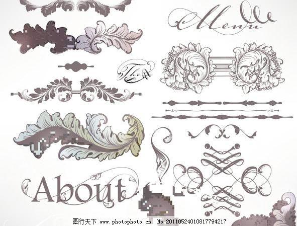 欧式花纹花边矢量素材图片