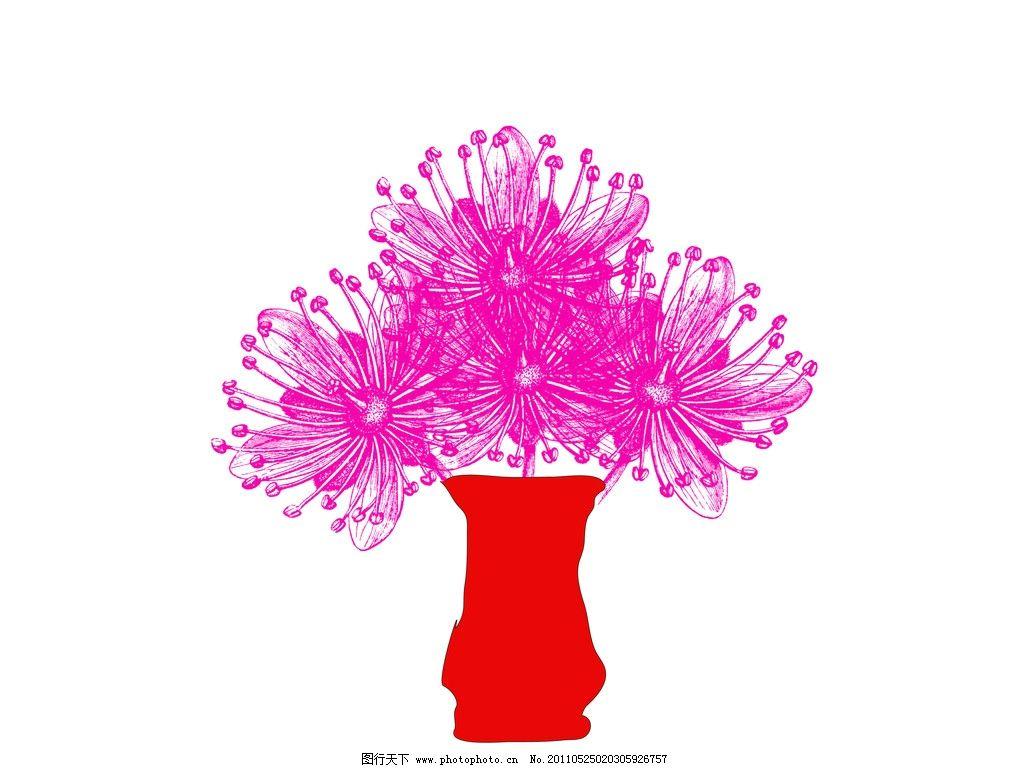 花瓶 花 菊花 花边花纹 底纹边框 设计 72dpi jpg