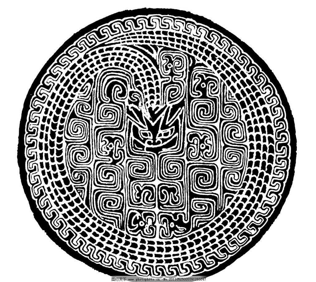 中国传统纹样 春秋 中式 文物 古典 花纹 黑白 白描 线描 黑白稿
