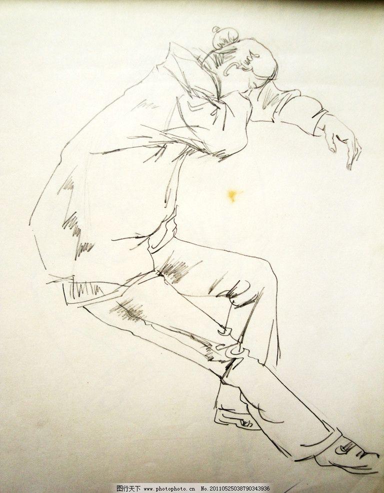 女子坐姿速写 侧面 人物 铅笔速写 人物速写 美术绘画 摄影