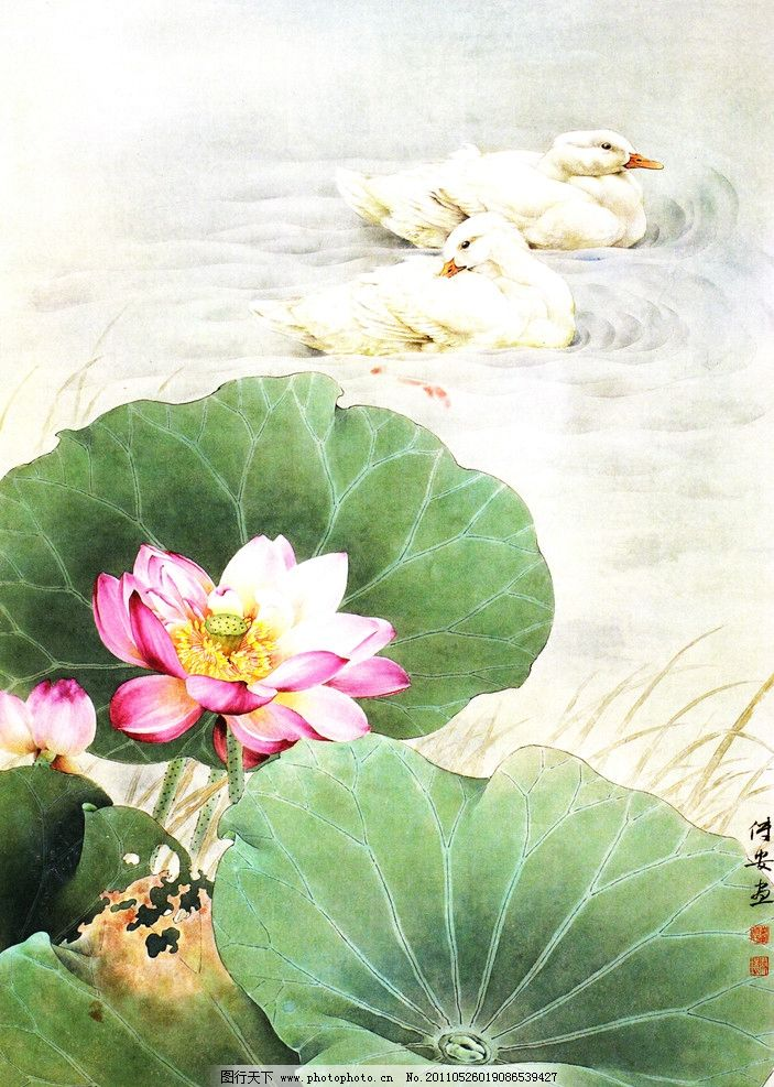 国画荷花 逐香 水墨 蜻蜓 壁画 无框画 移门 荷叶 花卉