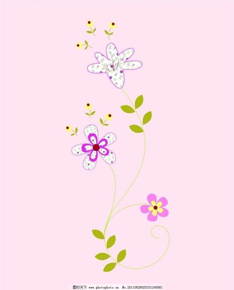卡通花纹 手绘花纹 花卉 花纹 卡通小花 卡通背景 花卉背景矢量 花朵