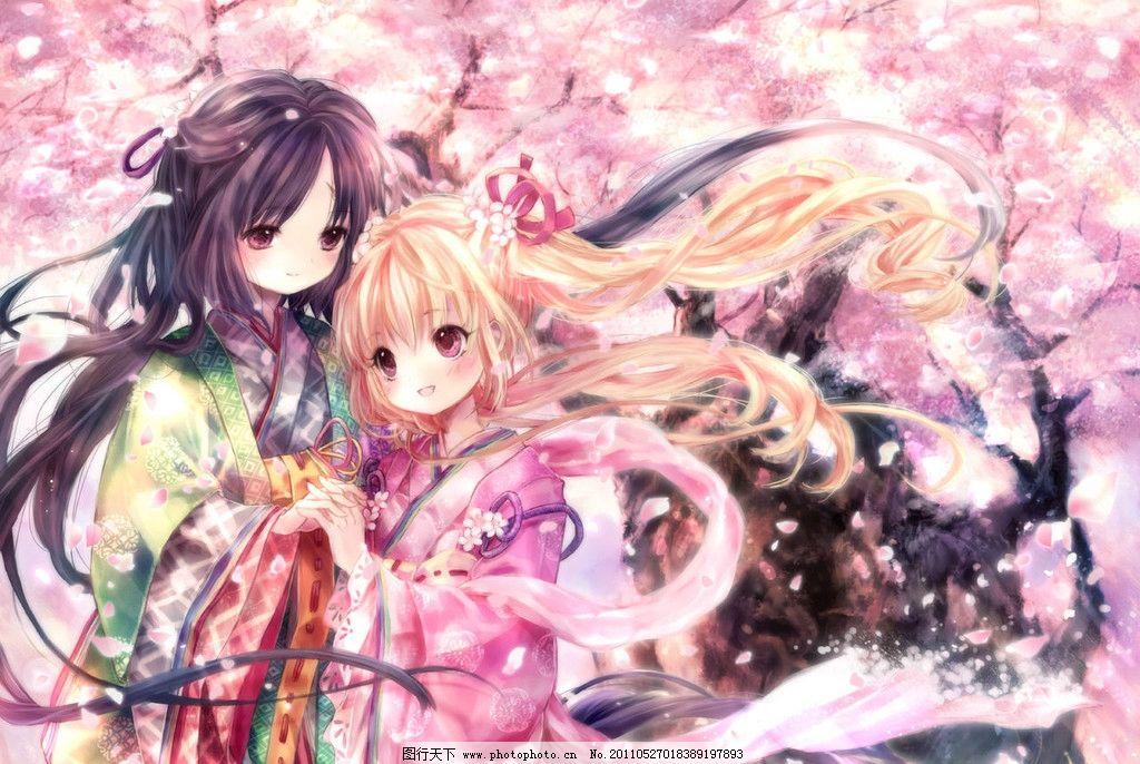日本动漫 姐妹 樱花雨