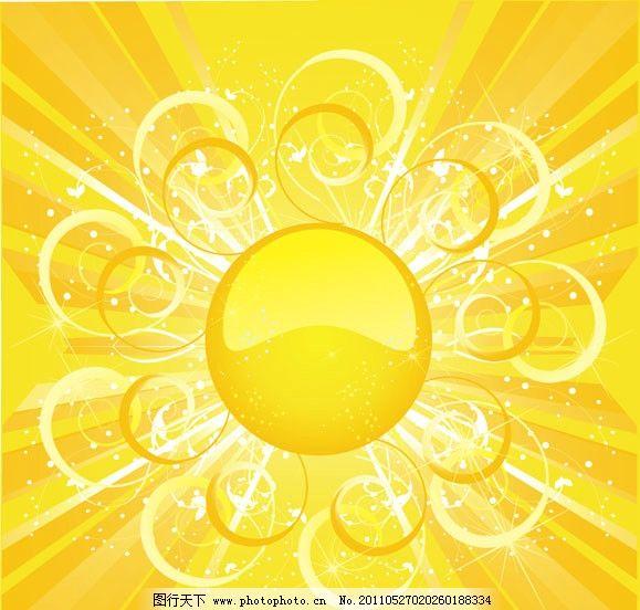 太阳阳光背景 动感光线 动感背景 动感线条 金色 花纹 花边 光芒