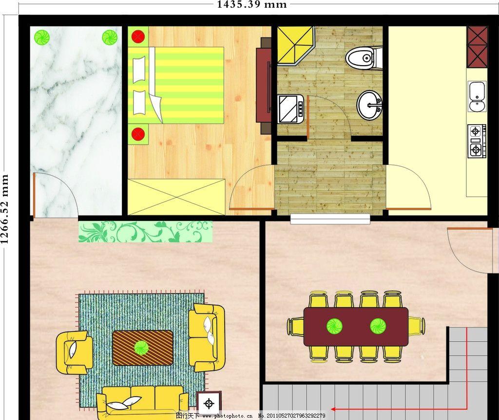 设计图分享 农村住宅房建筑平面设计图  农村住宅平面设计图12x15-12x