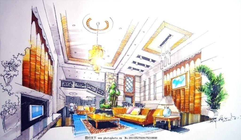 手绘效果图 环艺设计 手绘 方案 室内 景观设计 环境设计 设计 72dpi