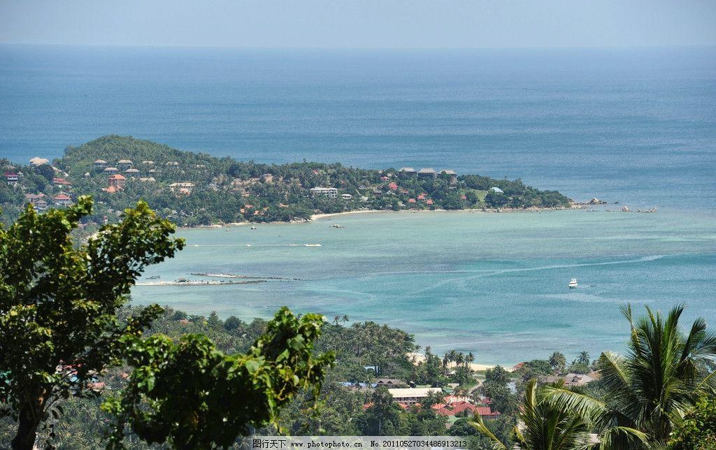 热带海滩 大海 沙滩 海边 椰子树 海水 风景 自然风光 蓝天