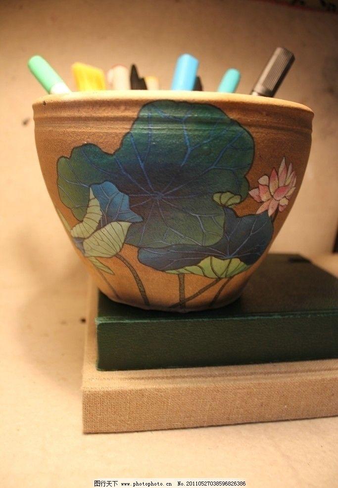 陶罐,画笔,静物结构素描