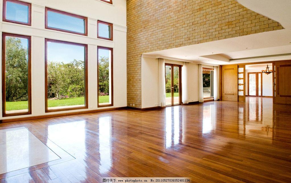 空客厅室内设计 地板 窗户 室内装修 室内装潢 室内摄影 建筑园林