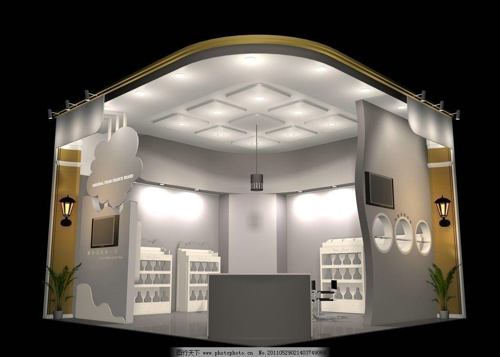 3d展览设计 展示模型 3d展厅设计 灯光 3d效果图 3d设计模型 max 模型图片