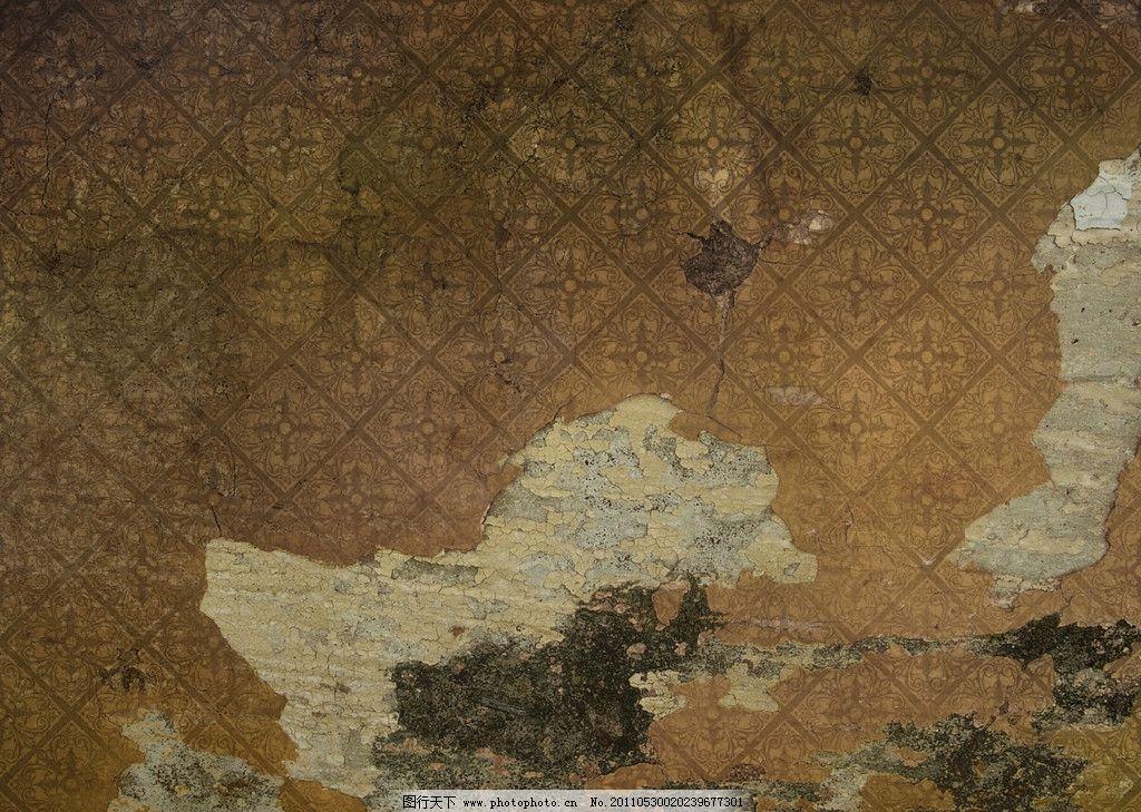 欧式复古花纹墙纸图片