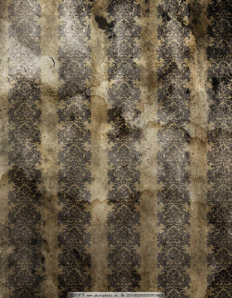 欧式老旧花纹墙纸图片