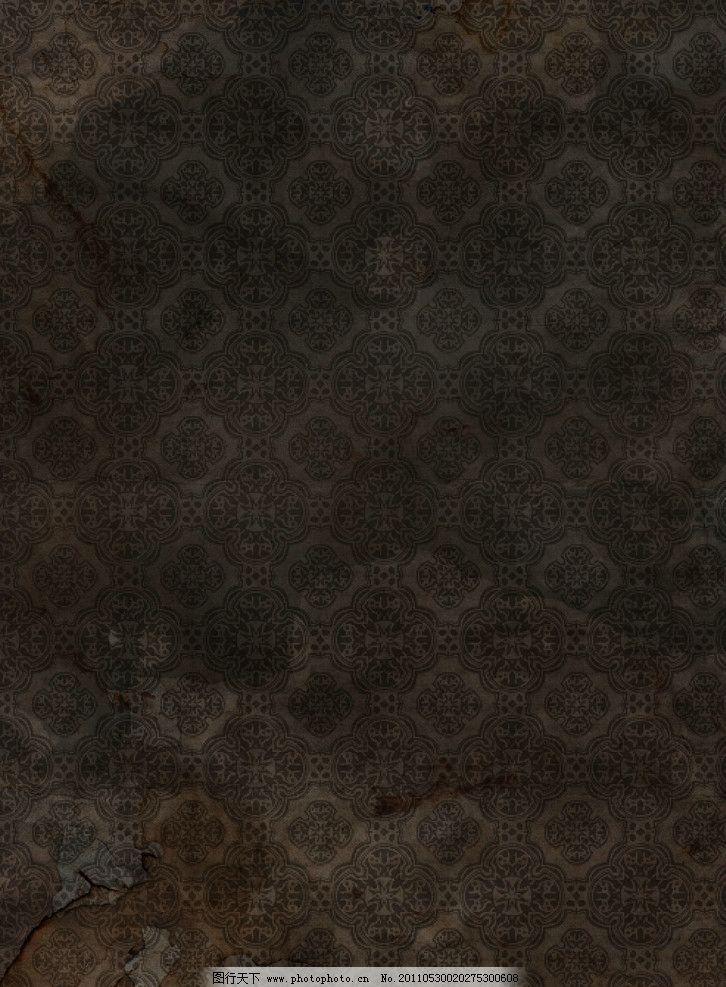 欧式怀旧花纹墙纸图片