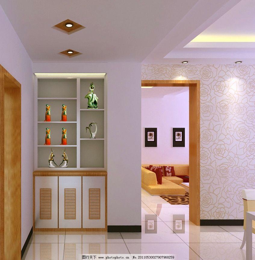 壁柜效果图 墙纸 壁柜装饰效果图 室内设计 环境设计 设计 72dpi jpg