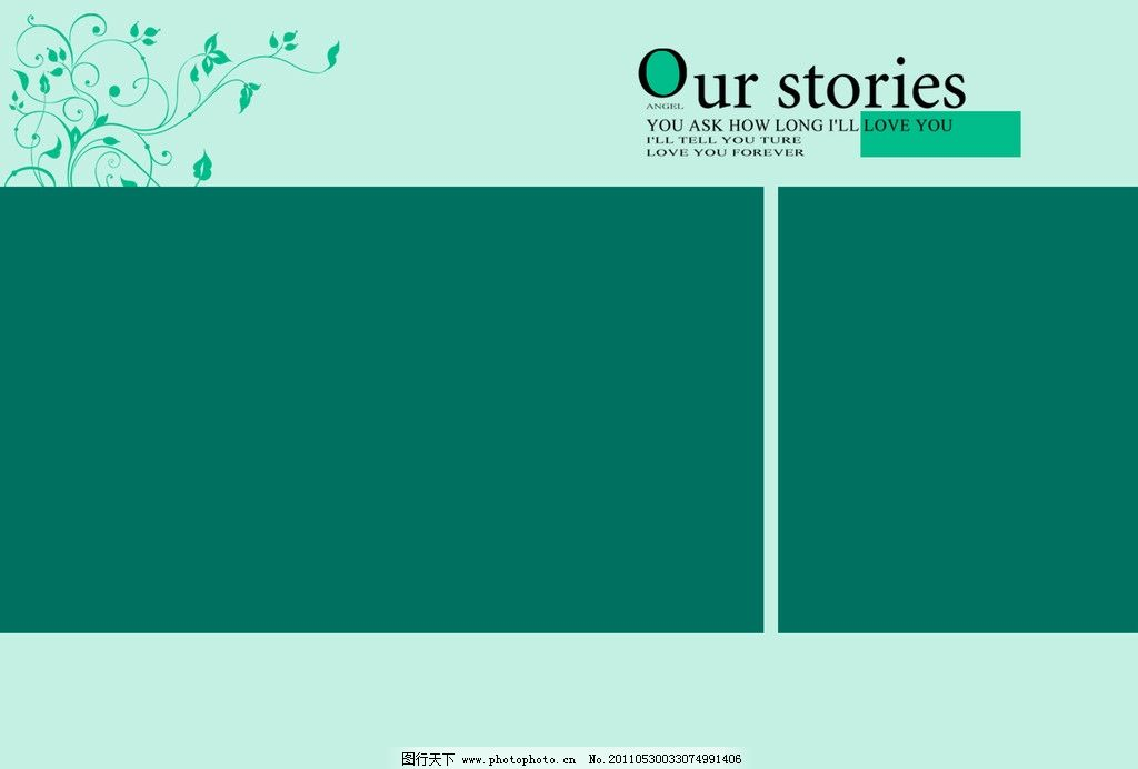 韩式简约风格相册设计版面图片专