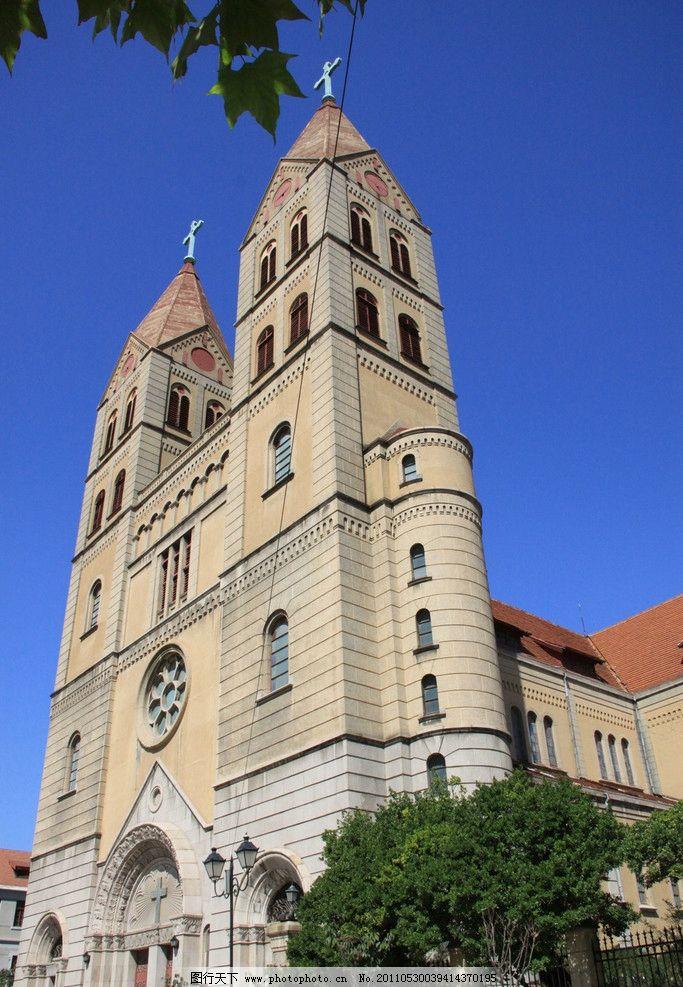 青岛 天主教堂 教堂 威严 阳光 建筑 欧式 建筑摄影 建筑园林 摄影 72