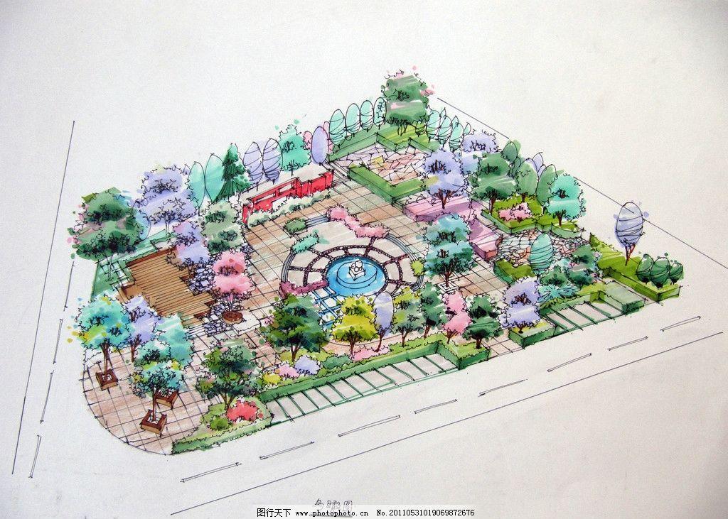 手绘城市鸟瞰 鸟瞰图 手绘 圆林 绘画书法 文化艺术 设计 180dpi jpg