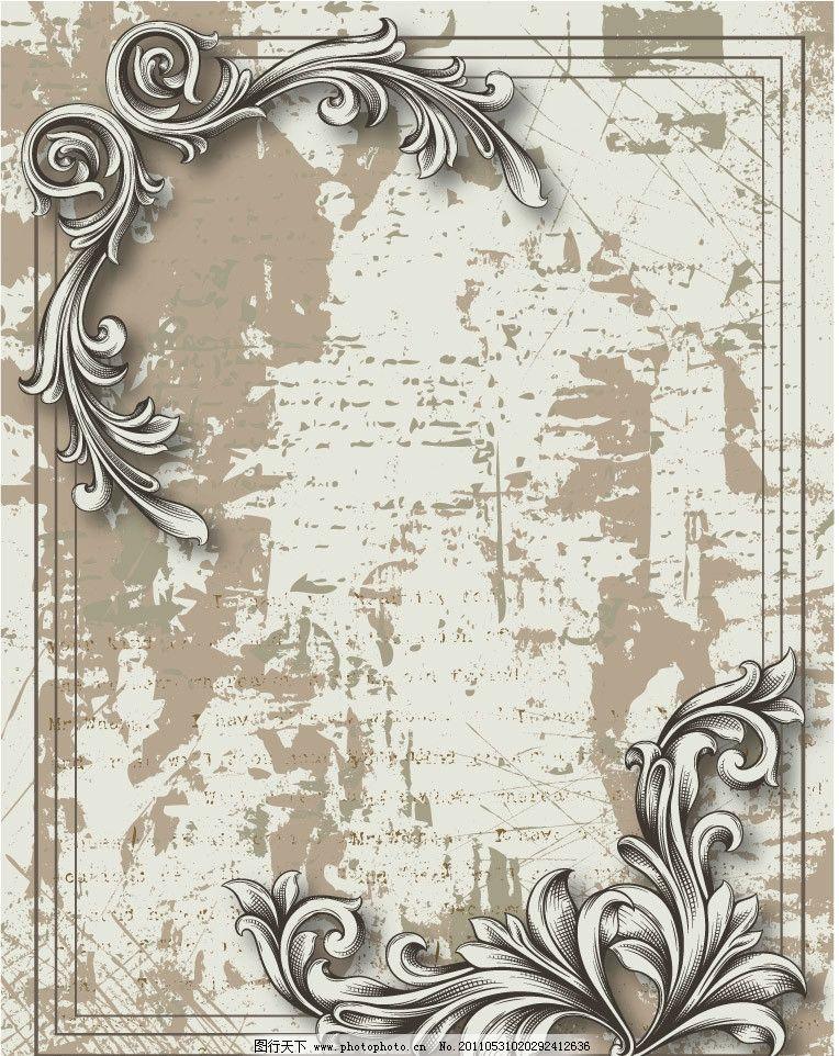 手绘水粉古代背景图片
