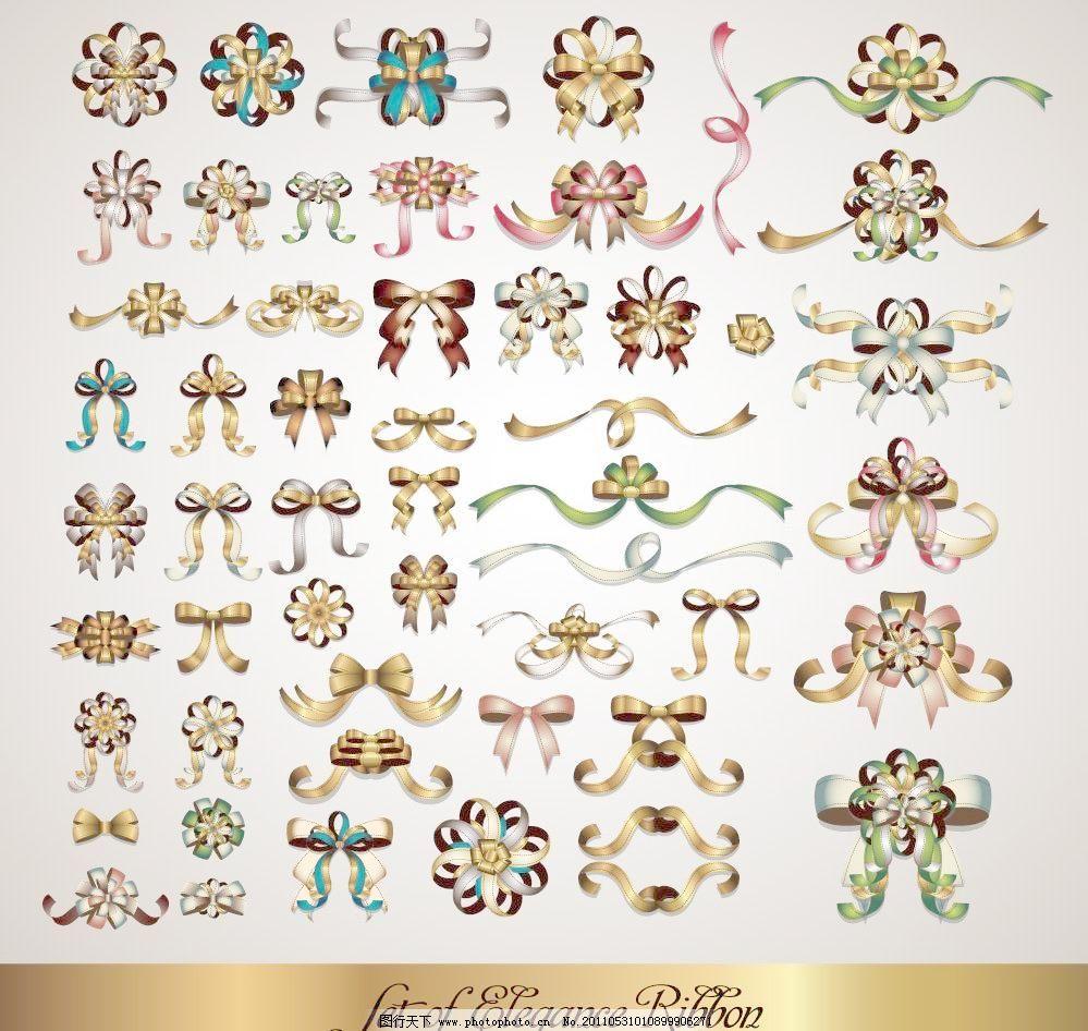 欧式花纹花朵蝴蝶结图片