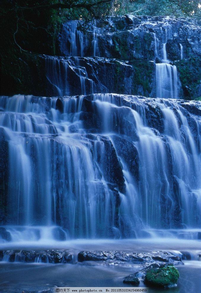 瀑布 山水 绿色 自然 生态 自然风景 自然景观 自然风光 旅游摄影