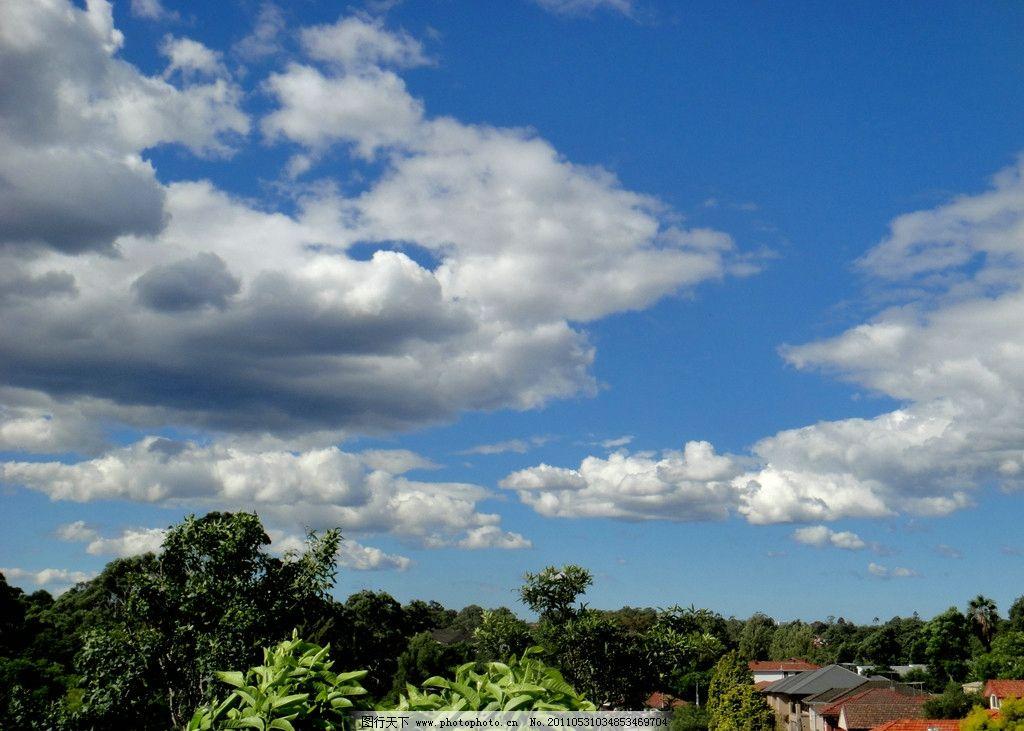 藍天白云 云彩 白云 云朵