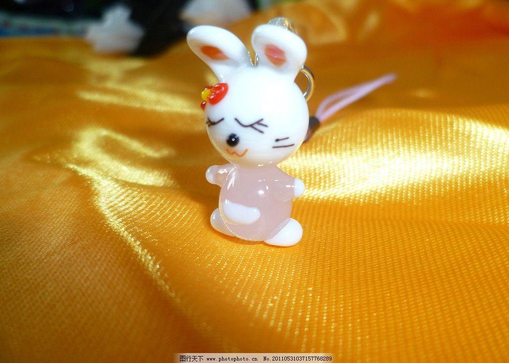 招财兔 兔子 手机链 挂件 黄布 可爱 吊饰 娱乐休闲 生活百科 摄影