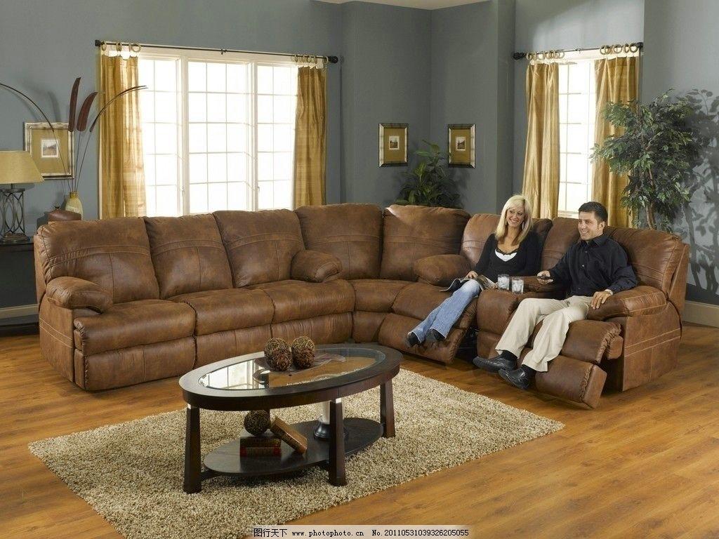 客厅休闲真皮沙发图片