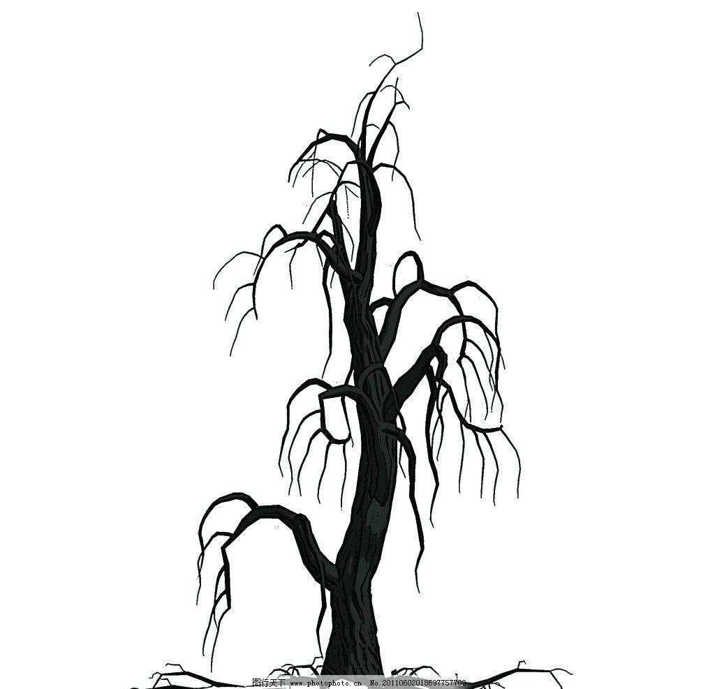 树干马克笔手绘