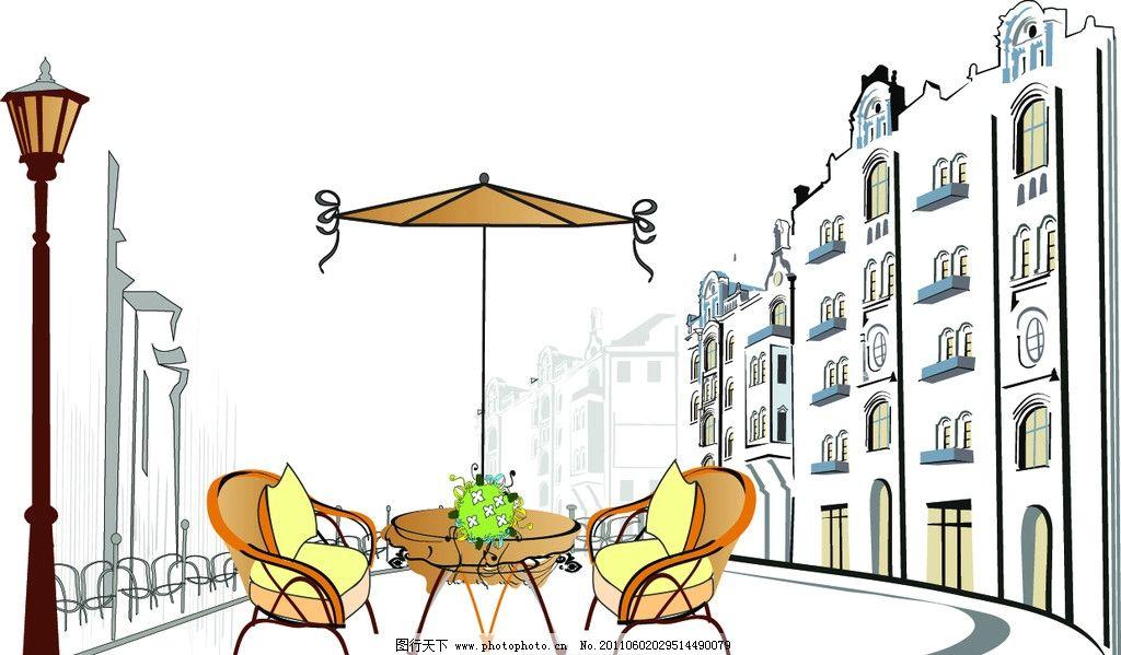 设计图库 画册装帧 产品画册  建筑 楼房剪影 线描建筑 楼房 高楼图片