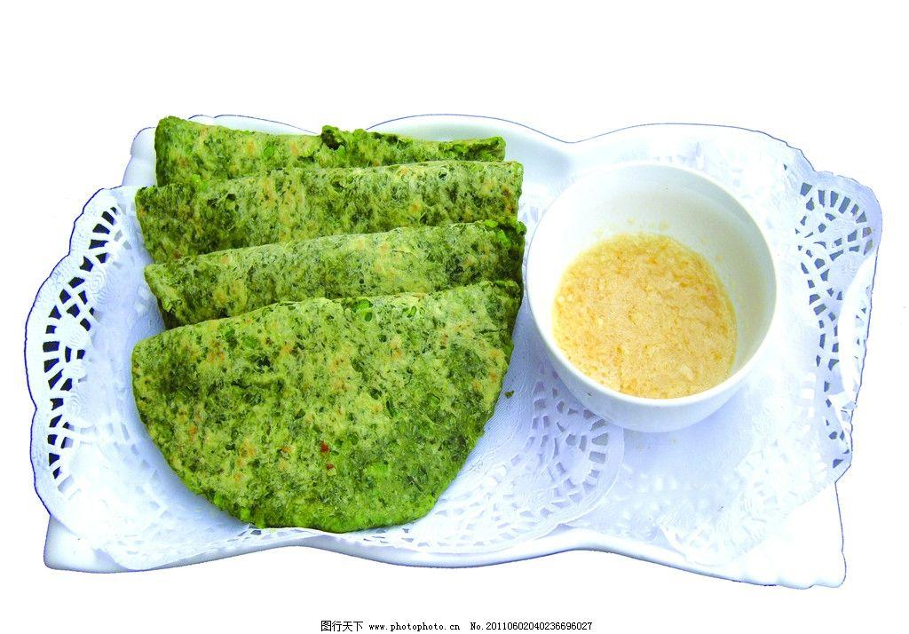 菜饼 饼 蒜泥 蔬菜饼 蒜 蒜碗 瓷盘 传统美食 餐饮美食 摄影 100dpi