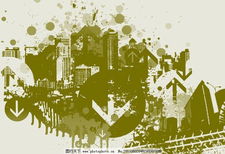 城市剪影笔刷 城市 非主流 剪影 建筑 大楼 都市 现代 流行 时尚 潮流