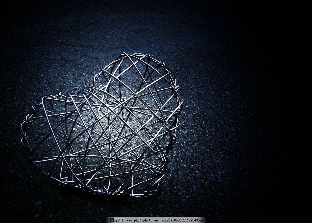 铁丝 立体构成 设计 心形 光感 艺术 美感 感觉 心跳 镂空 贴心 3d