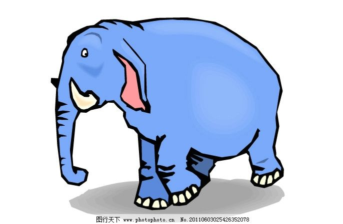 卡通大象 矢量卡通大象 动物 其他生物 生物世界 矢量 ai