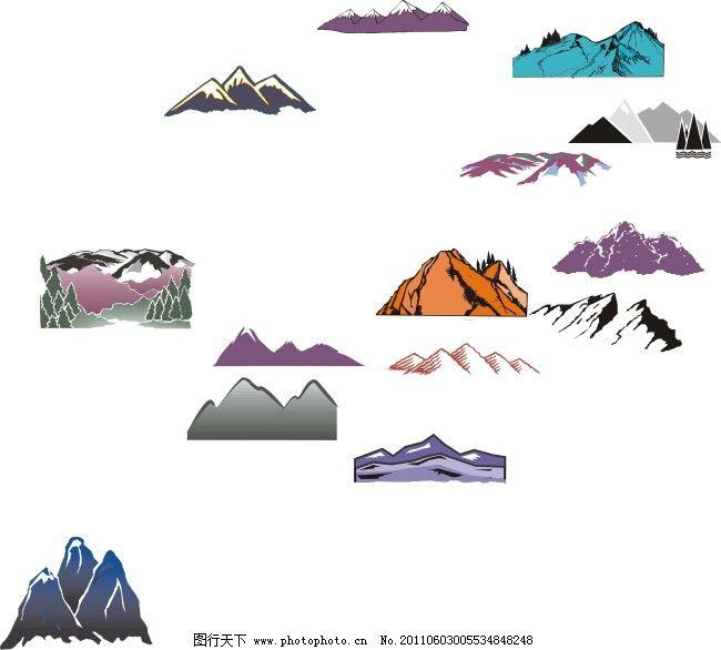 大山 卡通山 山 卡通山 山 大山 山立体图 名山 矢量图 其他矢量图