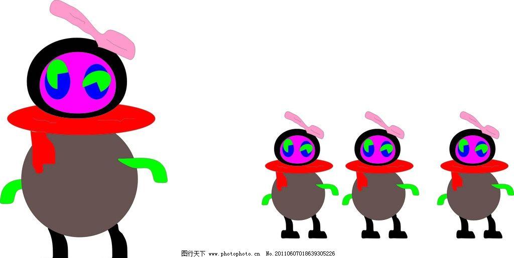 小企鹅 彩色企鹅 其他 动漫动画 设计 300dpi jpg