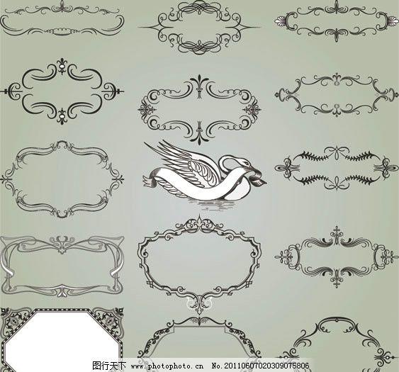 欧式花纹边框 华丽 古典 花边 角花 装饰花 传统 相框 底纹