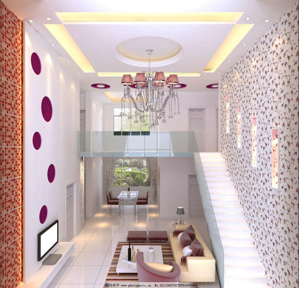 室内效果图图片,装修 灯 电视 客厅 楼梯-图行天下图库