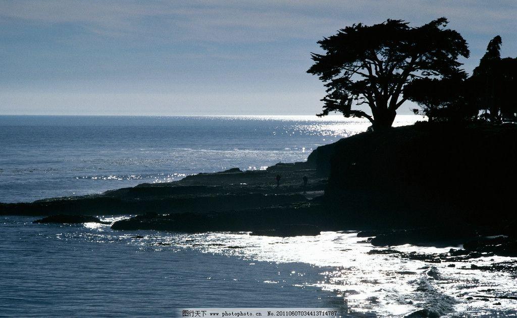 海边摄影 海边 大海 大树 浪漫 西下 一望无际 自然风光摄影 山水风景