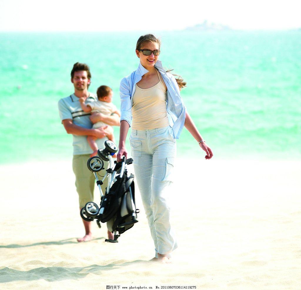 一家人 妈妈和儿子 气质美女