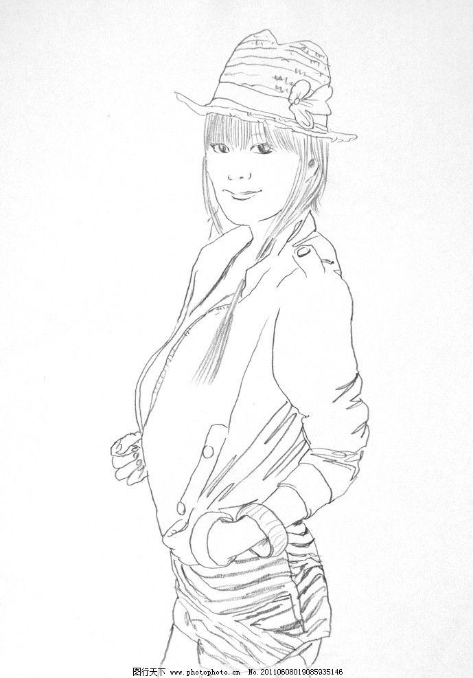 手绘时尚模特图片