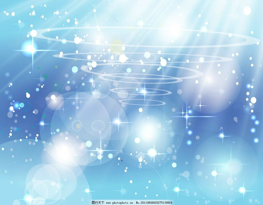 蓝色动感线条圈圈螺旋图片