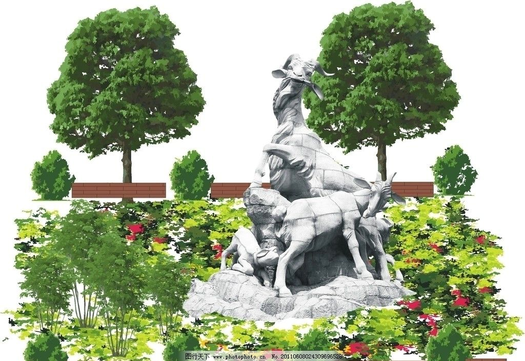 雕塑立面图图片