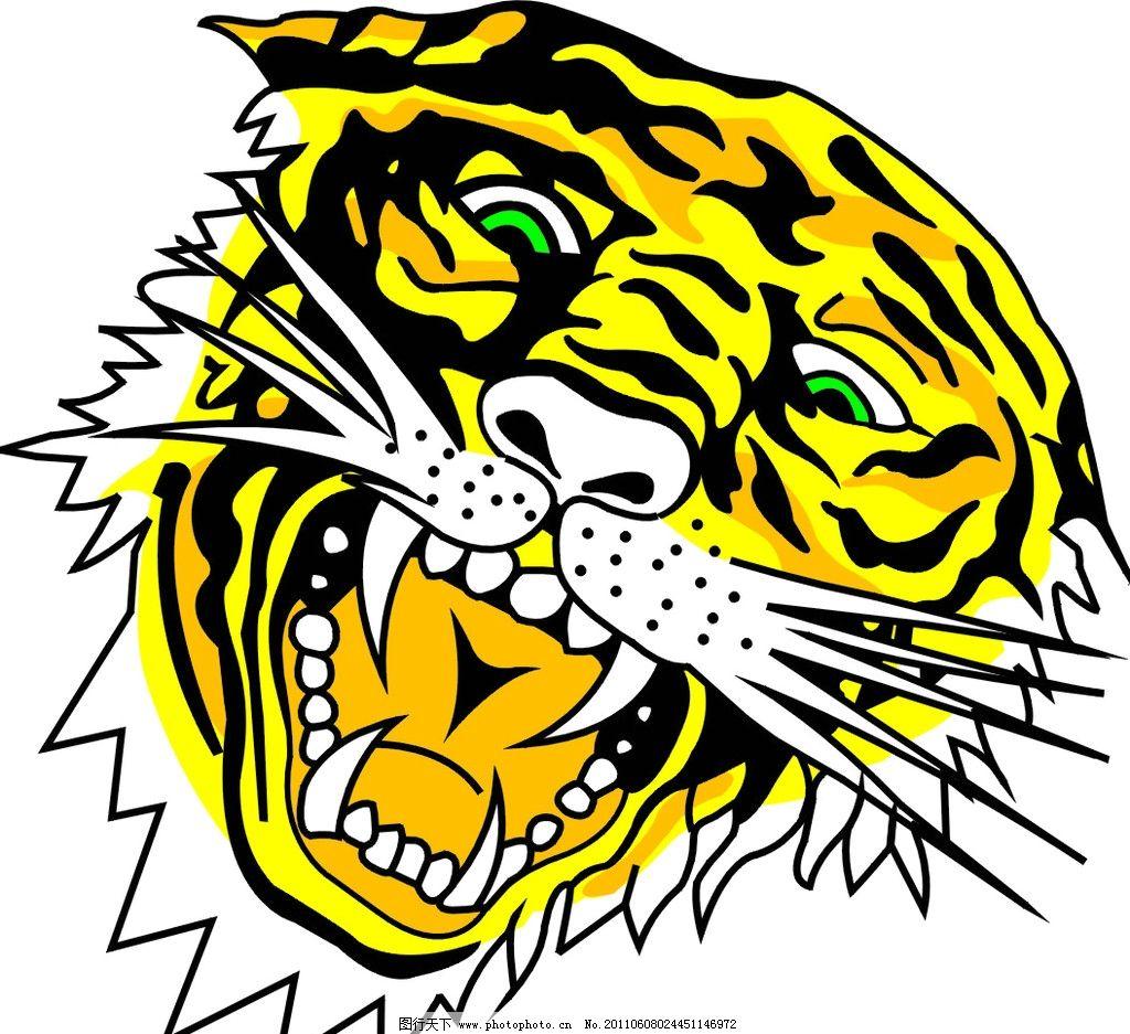 老虎头 矢量老虎头 野生动物