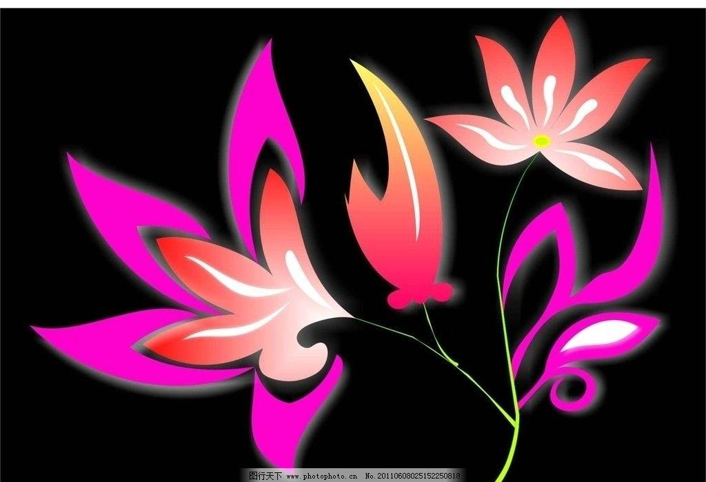 花朵 树叶 树木 风景 夏天 落叶 花开 鲜花 绿叶 花纹 动感