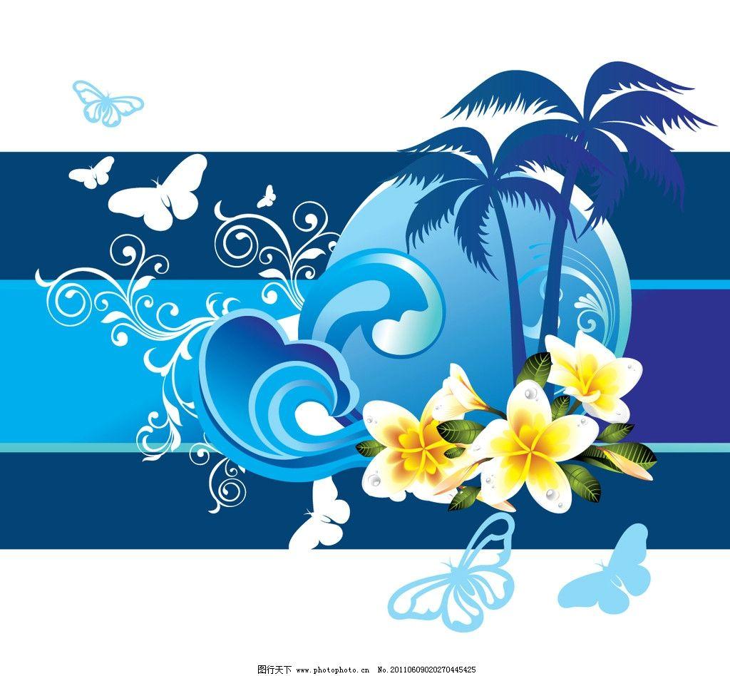 欧式花纹 线条 鲜花 花朵