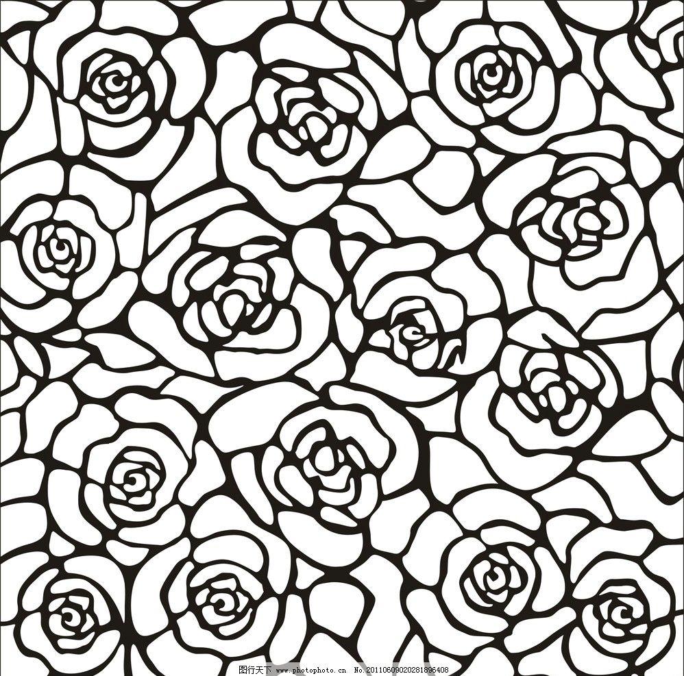 线条花朵底纹图片