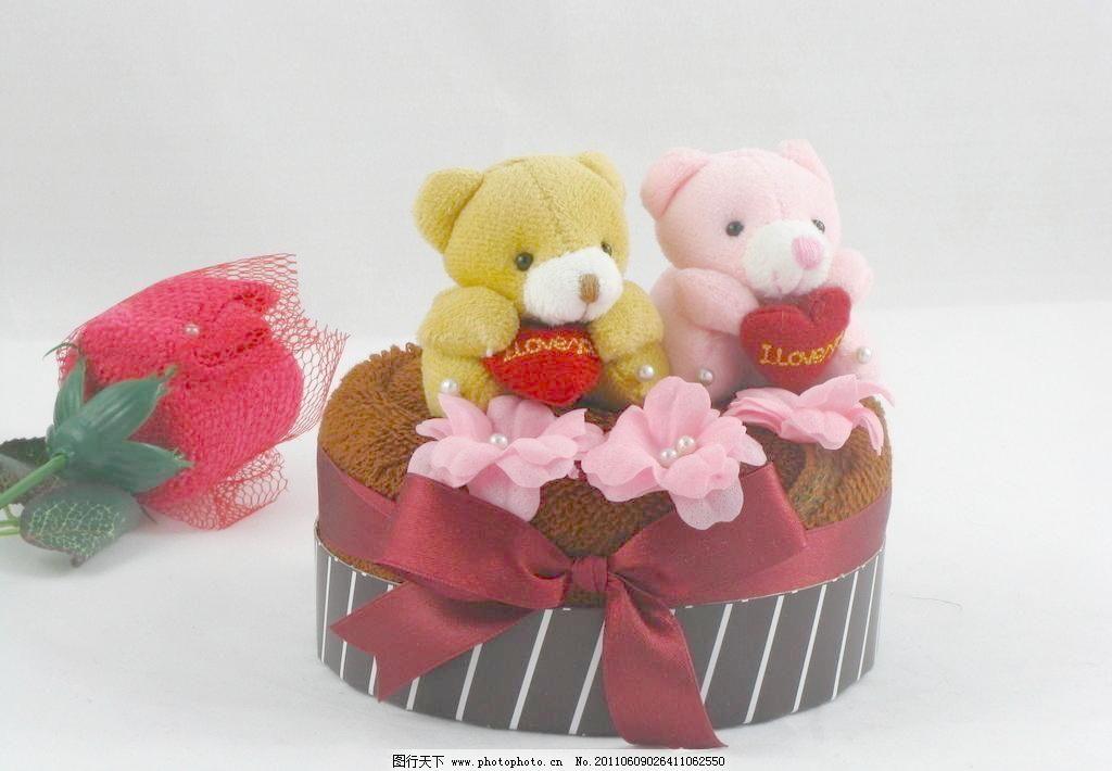 可爱的小熊礼物 礼物 小熊 毛巾饰品 蛋糕 玫瑰 娱乐休闲 生活百科