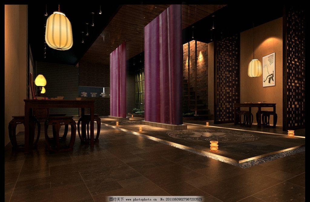 室内设计 大厅效果图 民生学院