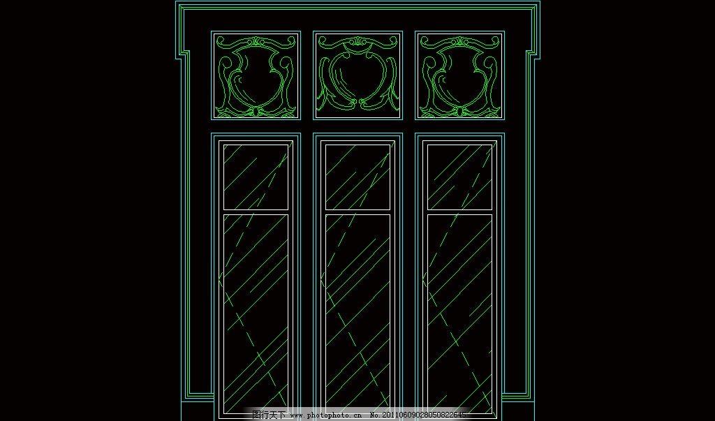 窗台 窗户 窗子 建筑设计 装修设计 窗套 檐线 门窗 cad之西式窗欧式